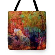 Decadent Urban Red Wall Grunge Abstract Tote Bag
