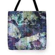 Decadent Urban White Splashed Bricks Grunge Abstract Tote Bag