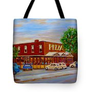 Decarie  Tasty  Food  Pizza Tote Bag