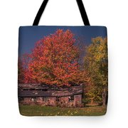 Decaying Building Tote Bag by Photography by Laura Lee