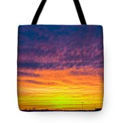 December Nebraska Sunset 003 Tote Bag
