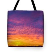 December Nebraska Sunset 004 Tote Bag