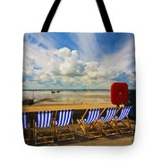 Deck Chairs At Southend On Sea Tote Bag