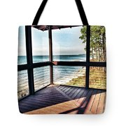 Deck With Ocean View Tote Bag