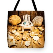 Deckchairs And Seashells Tote Bag