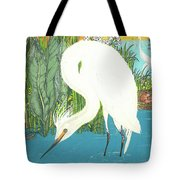 Deco Egret Tote Bag