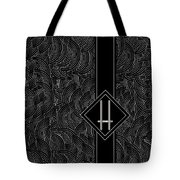 Deco Jazz Swing Monogram ...letter H Tote Bag