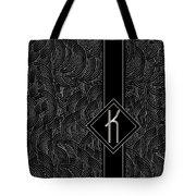 Deco Jazz Swing Monogram ...letter K Tote Bag