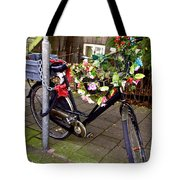 Decorated Bicycle. Amsterdam. Netherlands. Europe Tote Bag