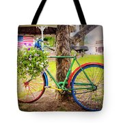 Decorated Bicycle In The Park Tote Bag