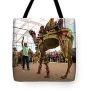 Decorated Camel Pushkar Tote Bag