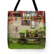 Half-timbered House, Riquewihr, Alsace,france  Tote Bag