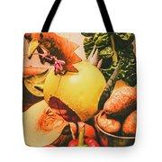 Decorated Organic Vegetables Tote Bag