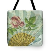 Decorated Valentine Fan Tote Bag