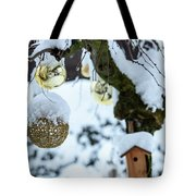 Decorations In The Snow Tote Bag