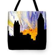 Decorative Abstract Skyline Atlanta T1115a1 Tote Bag by Mas Art Studio