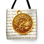 Decorative Aquarius Tote Bag
