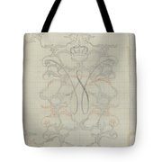 Decorative Design With Crowned W, Carel Adolph Lion Cachet, 1874 - 1945 Tote Bag