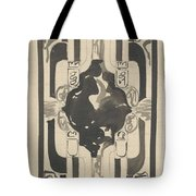 Decorative Design With Four Coats Of Arms, Carel Adolph Lion Cachet, 1874 - 1945 Tote Bag