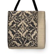 Decorative Design With Mask, Carel Adolph Lion Cachet, 1874 - 1945 Tote Bag