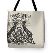 Decorative Design With Two Standing Deer, Carel Adolph Lion Cachet, 1874 - 1945 Tote Bag