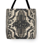 Decorative Design With Two Stylized Lions, Carel Adolph Lion Cachet, 1874 - 1945 Tote Bag