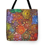 Decorative Flowers Tote Bag