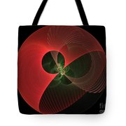 Decorative Globe Of Red Tote Bag