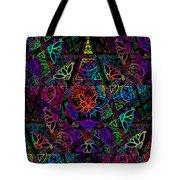 Decorative Pentacle Tiled Pattern Tote Bag