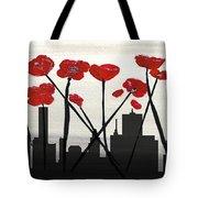 Decorative Skyline Abstract  Houston T1115v3 Tote Bag by Mas Art Studio