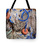 Deep Blue Net Tote Bag