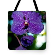 Deep Blue Orchid Tote Bag