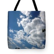 Deep Blue With Lovely Clouds Tote Bag