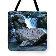 Deep Creek Flowing Between The Rocks Tote Bag