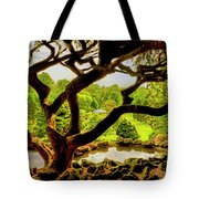 Deep Cuts Gazebo Between The Tree Branches Tote Bag