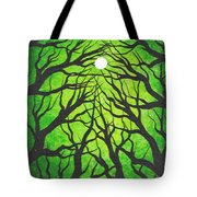 Deep Green Forest Tote Bag