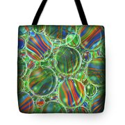 Deep Green Marbles Shower Curtain Tote Bag