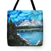 Deep Mountain Lake Tote Bag