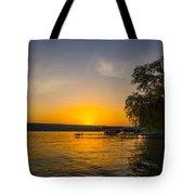 Deep Orange Sunset Over Keuka Lake Tote Bag
