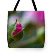 Deep Pink Rose Bud - Rose Bud Tote Bag