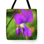 Deep Purple - Wildflower Art Tote Bag