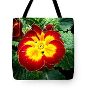 Deep Red Bright Yellow Tote Bag