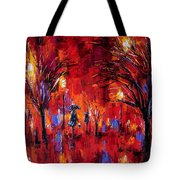 Deep Red Tote Bag