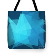 Deep Sea Polygon Pattern Tote Bag