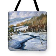 Deep Snow Tote Bag