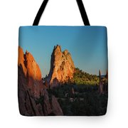 Deep Sunset At Garden Of The Gods Tote Bag