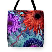 Deep Water Daisy Dance Tote Bag