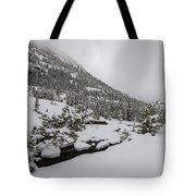 Deep Winter River Tote Bag