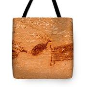 Deer And Bison Pictograph - Horseshoe Canyon - Utah Tote Bag