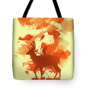 Deer Art Morning Tote Bag